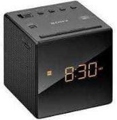 RRP £65 Boxed Sony Icf-C1 Mini Cube Alarm Clock