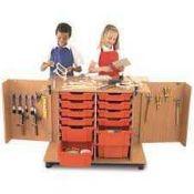 RRP £200 Boxed Educational Infants Tech Truck Cabinet