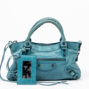 RRP £1560 Balenciaga Arena First Blue Shoulder Bag AAP8613 Grade A - Please Contact Us Directly For