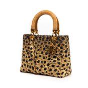 RRP £2800 Christian Dior Yellow/Black Rare Vintage Lady Leopard Handbag EAG4517 Grade A (Please