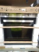 RRP £200 Boxed Stainless Steel And Black Fully Integrated Single Fan Assisted Electric Oven