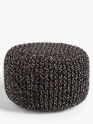 RRP £110 Lot To Contain 2 Assorted John Lewis And Partners Pouffes To Include A Chunky Knit Pouffe A
