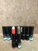 (Jb) RRP £200 Lot To Contain 12 Testers Of Black Up Paris Lipsticks In Assorted Shades All Ex-Displa