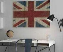 """RRP £150 Lot To Contain 2 Assorted Stretched Canvas Wall Art Pictures To Include """"Union Jack"""" And """"A"""