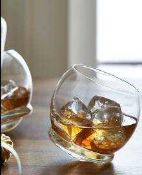 RRP £80 Lot To Contain 4 Boxed Sets Of 4 John Lewis And Partners 370Ml Crystal Glass Wobbly Whiskey