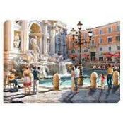 """RRP £120 """"Piazza De Trevi Fountain"""" Stretched Canvas Wall Art Picture By Artist Richard Macneil"""