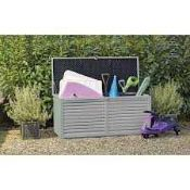 RRP £100 Boxed Grey Plastic Garden Storage Box