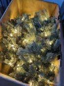 RRP £130 Boxed John Lewis And Partners 1.8M Pre Lot Blue Pop Up Christmas Tree With 250 Pure White L