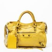 RRP £1,200 Balenciaga Shoulder City Bag Yellow - AAQ3511 - Grade AB - Please Contact Us Directly For