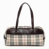 RRP £875 Burberry Shoulder Bag Beige/Dark Brown - AAQ0407 - Grade AB - Please Contact Us Directly