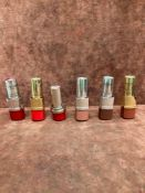 (Jb) RRP £180 Lot To Contain 6 Testers Of Assorted Premium Lancome Lipsticks In Assorted Shades All