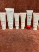 (Jb) RRP £190 Lot To Contain 6 Testers Of Assorted Premium Clarins Products To Include Brand New Sea