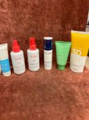 (Jb) RRP £180 Lot To Contain 6 Testers Of Assorted Premium Clarins Products To Include 75Ml Sos Pure