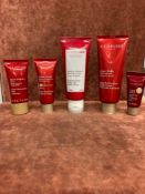 (Jb) RRP £235 Lot To Contain 5 Testers Of Assorted Premium Clarins Products To Include 100Ml Repleni