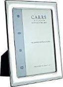 """RRP £150 Boxed Carr's Silver 6X4"""" Picture Frame"""