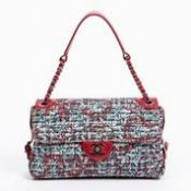RRP £4,150 Chanel Single Flap Shoulder Bag Red/Blue - AAQ0107 - Grade A - Please Contact Us Directly