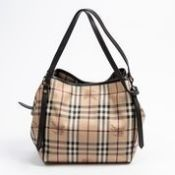 RRP £1,290 Burberry Vintage Double Strap Shoulder Tote Bag Beige/Dark Brown - AAQ4349 - Grade A -
