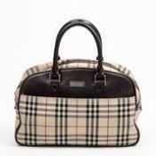 RRP £1,250 Burberry Front Pocket Horizontal Tote Handbag Beige/Dark Brown - AAQ4440 - Grade AB -