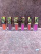 (Jb) RRP £180 Lot To Contain 6 Testers Of Yves Saint Laurent Tattouage Couture Matte Stains All Ex-D