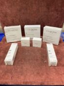 (Jb) RRP £200 Lot To Contain 7 Testers Of Assorted Premium Clarins Products To Include Brand New Box