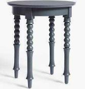 RRP £100 Lot To Contain 1 Boxed John Lewis John Lewis & Partners Classic Bobbin Side Table, Grey