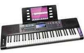 RRP £80 Lot To Contain 1 Boxed Rockjam Rj361 Compact 61Key Keyboard