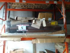 RRP £850 Pallet To Contain Part Lot Made Furniture To Include Brown Leather Sofa And Boone 8 Seater