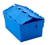 RRP £150 Lot To Contain 10 Blue Tote Boxes With Attached Lid (Available On Request) (Pictures For