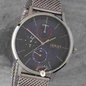 RRP £180 Boxed Hugo By Hugo Boss 1530171 Exist Men's Navy Blue Face Mesh Strap Designer Wrist