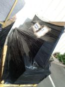 RRP £500 Pallet To Contain Assorted Furniture Items Including 1 Double Door Wardrobe 1 Black Table