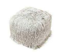 RRP £70 Julian Macdonald Sparkle Grey Foot Pouffe (Appraisals Available On Request) (Pictures For