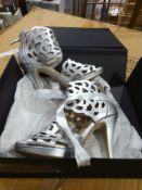 RRP £110 Lot To Contain 2 Boxed Brand New Pairs Of Sargossa Ladies Heeled Shoes In Size Uk 4 And