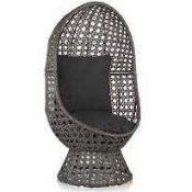 RRP £260 Boxed Cocoon Grey Outdoor Swivel Chair (Appraisals Available On Request) (Pictures For