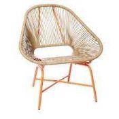 RRP £60 Boxed Orange Frame Amanda Holden Bundleberry Outdoor Garden Chair (Appraisals Available On