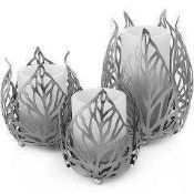 Combined RRP £120 Lot To Contain 4 Boxed Leaf Candle Holders (Appraisals Available On Request) (
