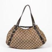 RRP £1,590 Gucci Abbey Hobo Diagonal Line Shoulder Bag Brown/Beige - AAN9709 - Grade AB - Please