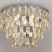 RRP £275 Boxed John Lewis Waterfall Crystal Ceiling Light (148029) (Appraisals Available On Request)
