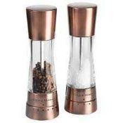 RRP £80 Boxed Coal & Mason Derwent Electric Salt And Pepper Mill Set 4981677 (Appraisals Available