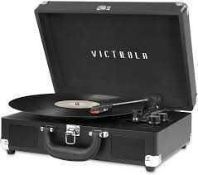 RRP £80 Boxed Victrola 3 Speed Bluetooth Turntable With Stereo Speakers (Appraisals Available On
