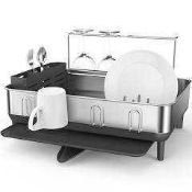 RRP £110 Lot To Contain 2 Boxed Assorted Kitchen Items To Include Simplehuman Compact Steel Frame