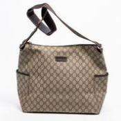 RRP £1,565 Gucci Diaper Shoulder Bag Beige/Dark Brown - AAP1619 - Grade BC - Please Contact Us