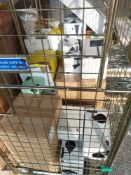✓RRP £550 Cage To Contain A Large Amount Of Assorted John Lewis Light/Wall Lights And Lamps