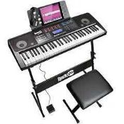 RRP £120 Boxed Rockjam Rj761-Sk Super Kit Electric Keyboard (Appraisals Available On Request) (