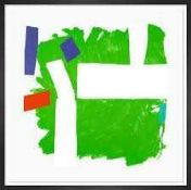 RRP £475 Flamed Green By Artist Sandra Blow Wall Art Picture (Appraisals Available On Request) (