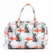RRP £1,250 Prada Bunny Arrow Bowler Bag Handbag White/Orange/Black - Grade A - AAR3742 - Please