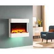 RRP £350 Boxed Darrin Wall Mounted Electric Fire Suite (Appraisals Are Available On Request) (