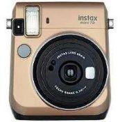 RRP £130 Boxed Fujifilm Instax Mini 70 Stardust Gold Instant Camera (210609) (Appraisals Are