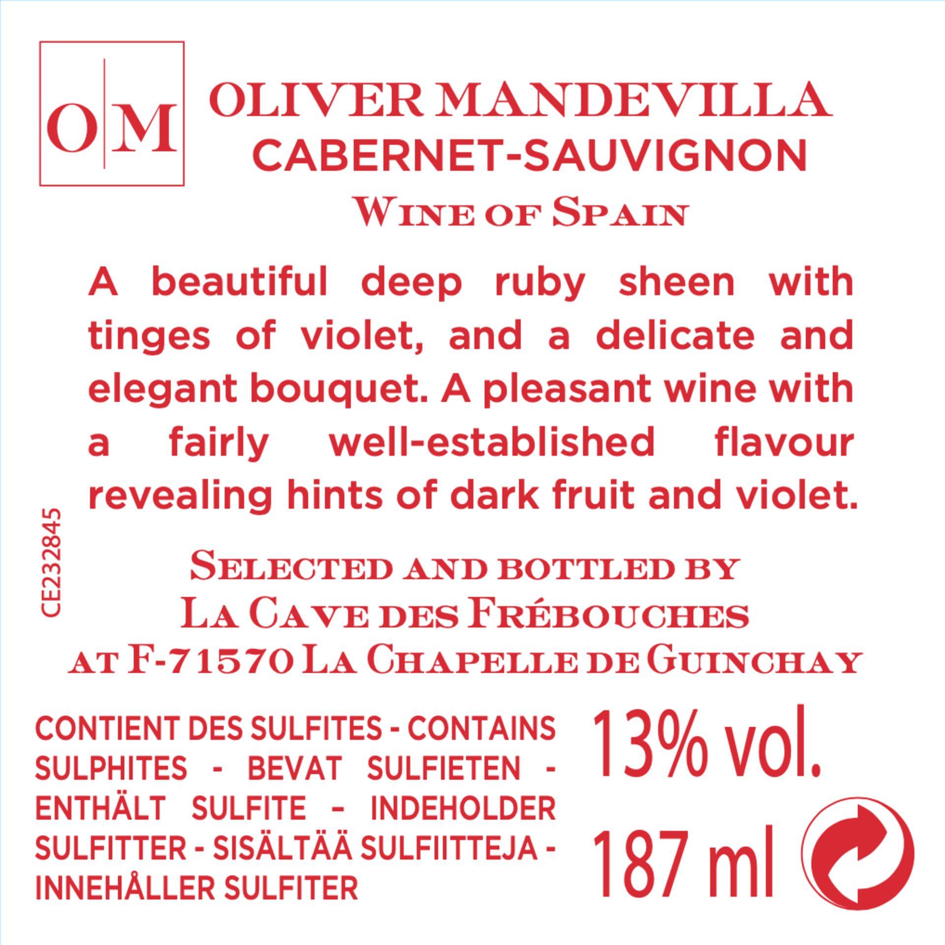 1 x Pallet of Oliver Mandevilla Cabernet-Sauvignon - Image 3 of 4