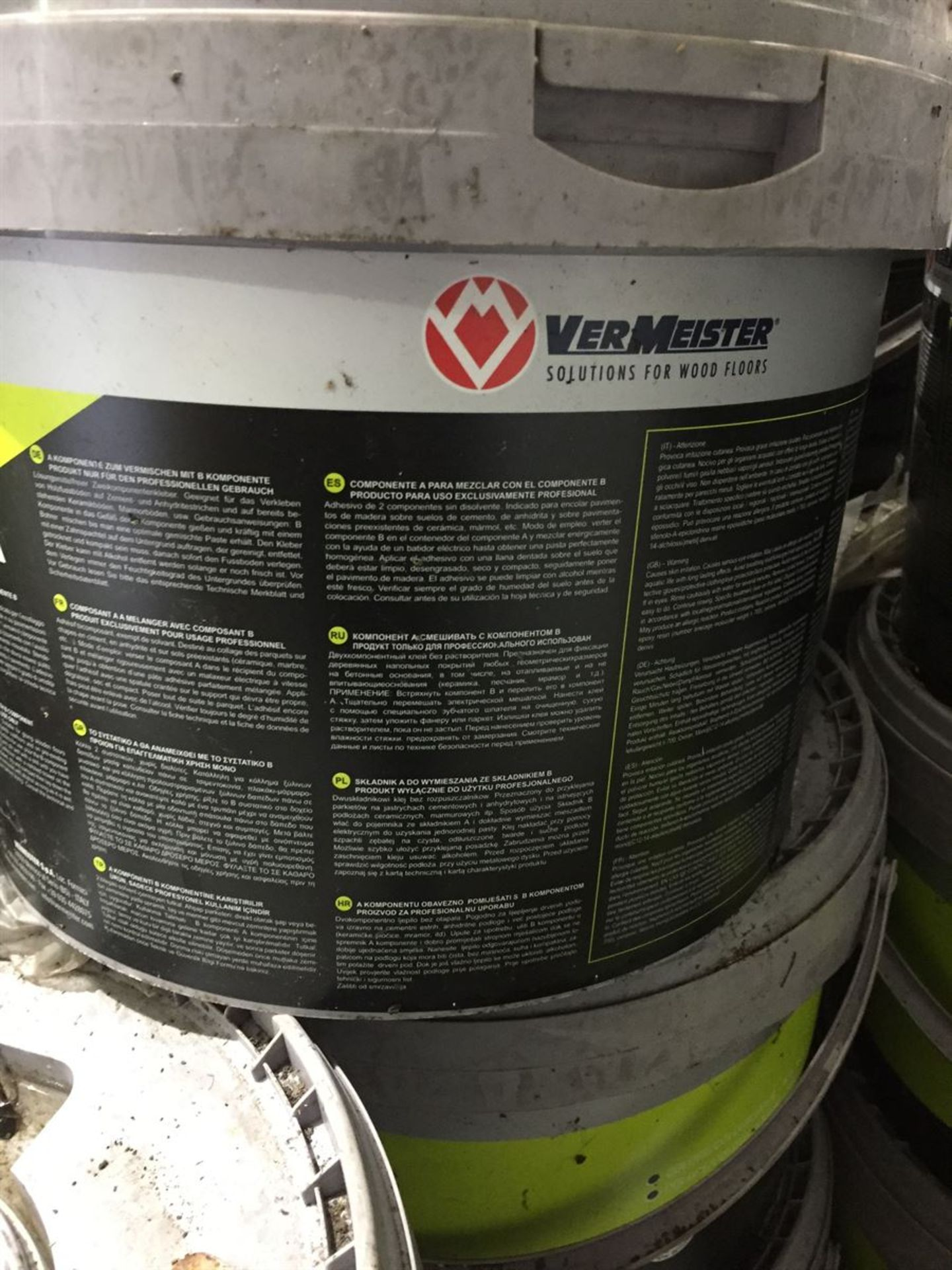 1x 10kg Tub VerMeister 2pak Wood flooring Adhesive - Image 4 of 5