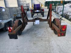 TWS single axle cable drum trailer, serial no. 669676